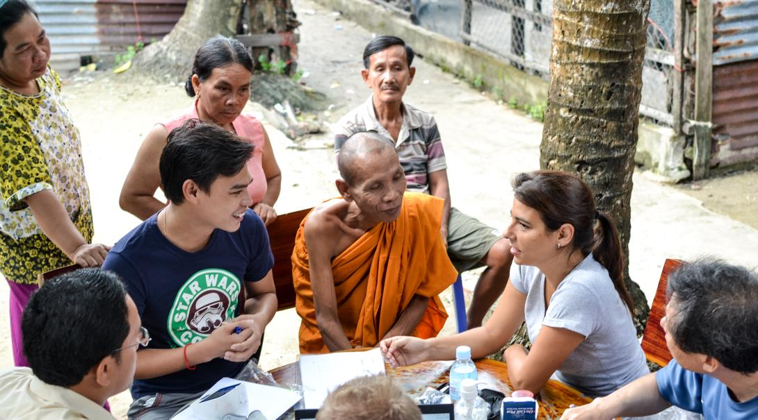 A Public Health intern breaks the language barrier during her project in Cambodia, as part of cultural exchange.